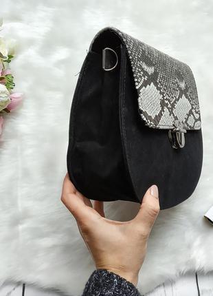 Новая черная сумка клатч с длинной ручкой3