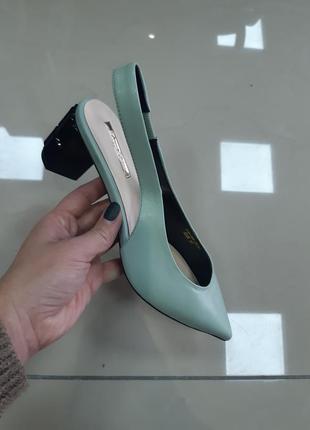Кожанные туфли, лодочки1
