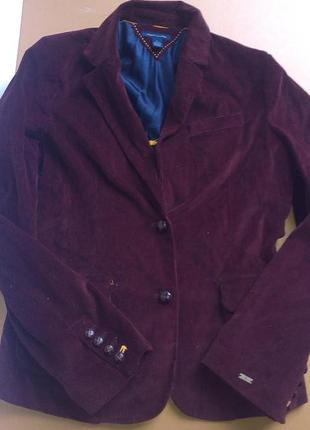 Вельветовый марсаловый пиджак tommy hilfiger-оригинал1