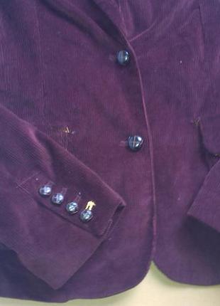 Вельветовый марсаловый пиджак tommy hilfiger-оригинал2