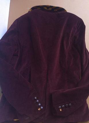 Вельветовый марсаловый пиджак tommy hilfiger-оригинал3