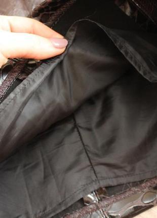 Актуальная мини юбка в змеиный принт , мини , рептилия4