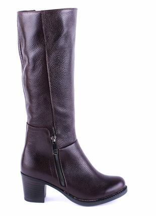 966цп женские сапоги kvitas,кожаные,на толстом каблуке,на толстой подошве,на каблуке3