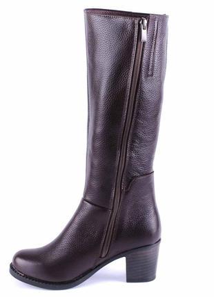 966цп женские сапоги kvitas,кожаные,на толстом каблуке,на толстой подошве,на каблуке2
