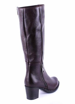 966цп женские сапоги kvitas,кожаные,на толстом каблуке,на толстой подошве,на каблуке4