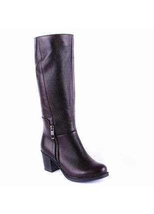 966цп женские сапоги kvitas,кожаные,на толстом каблуке,на толстой подошве,на каблуке1
