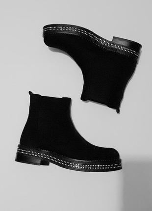 38 размер - ботинки с блестящей подошвой5