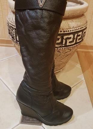 Продам зимние кожаные сапоги2 фото