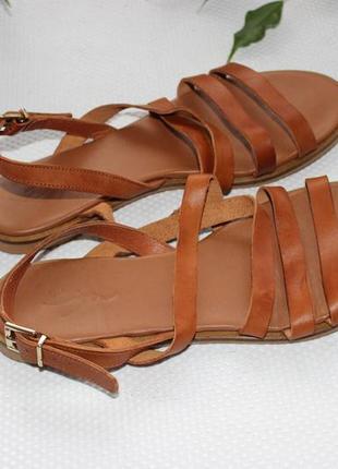 39 25,5см zign кожаные босоножки, сандалии на ремешке2 фото