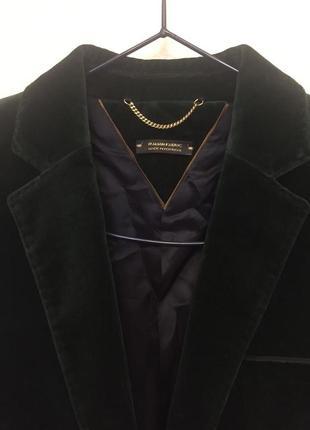 Фирменный темно зеленый блейзер, жакет, пиджак, вельвет, massimo dutti, массимо дутти, m-l4 фото