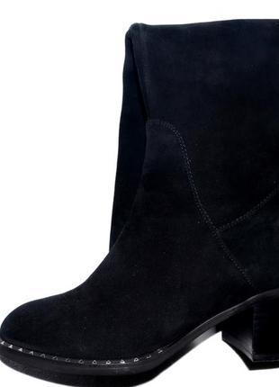 Новые сапоги женские зимние черные замшевые molared натуральный мех цегейка4