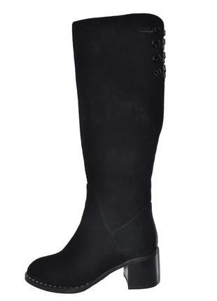 Новые сапоги женские зимние черные замшевые molared натуральный мех цегейка1