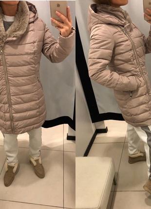 Бежевое пальто с косой молнией mohito стеганая куртка с косой молнией есть размеры