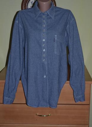 Черная пятница! рубашка из плотной ткани свободного кроя levi's1 фото