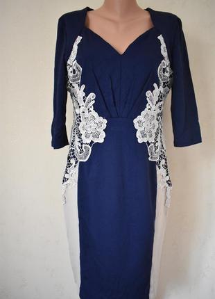 Красивое теплое платье с кружевом little mistress огромный выбор платьев и др...1