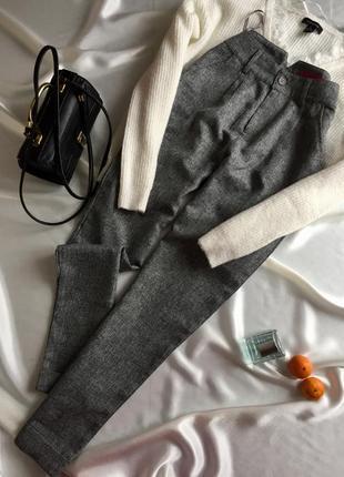 Модні сірі брюкі висока посадка с/81 фото