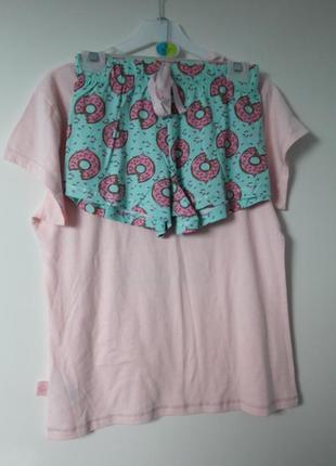 Красивая котоновая пижамка розмер s4