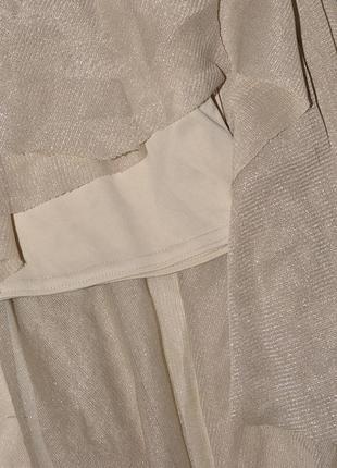 Асимметричная юбка с золотыми нитями diamond5