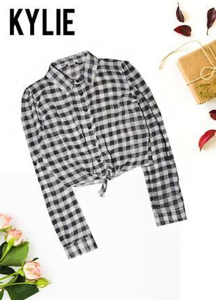 Рубашка короткая на завязке kylie
