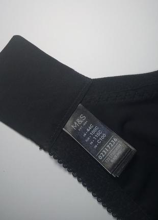Черный кружевной бюстгальтер без поролона marks&spencer. 100c 100с 44c 44с4