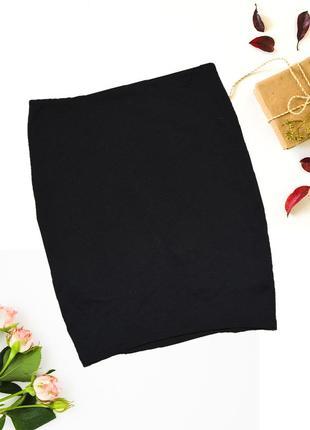 Юбка мини черная по фигуре pull&bear2