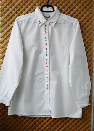 Белоснежная хлопковая рубашечка
