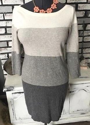 Теплое платье свитер из шерсти мериноса banana republic