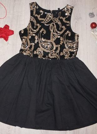 Платье нарядное isabel  с паетками   размер 8