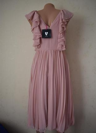 Новое красивое плиссированное платье3