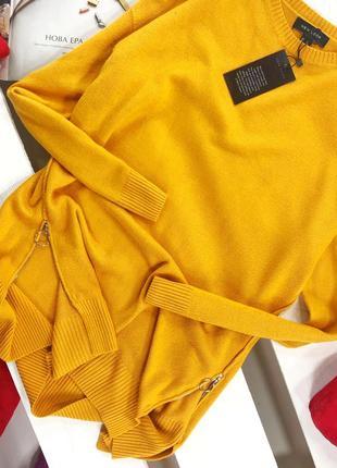 Оверсайз свитер с замками по бокам new look3
