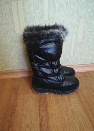 Сапоги зимние на девочку стелька-23см цена - 250