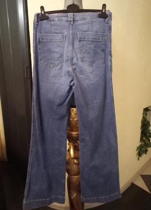 Широкие джинсы,кюлоты-момсы 46-48р2 фото