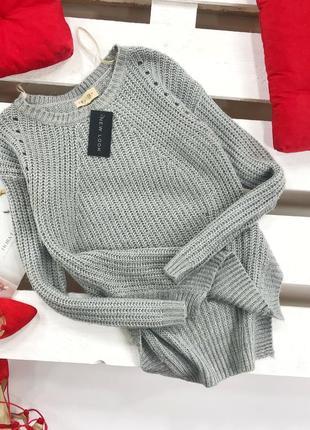 Стильный свитер крупной вязки new look1