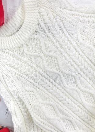 Оверсайз удлиненный свитер в косы de young3 фото
