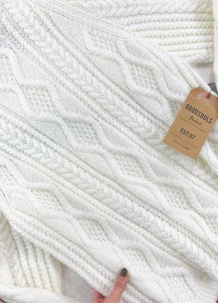 Оверсайз удлиненный свитер в косы de young2 фото