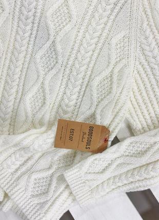 Оверсайз удлиненный свитер в косы de young4 фото