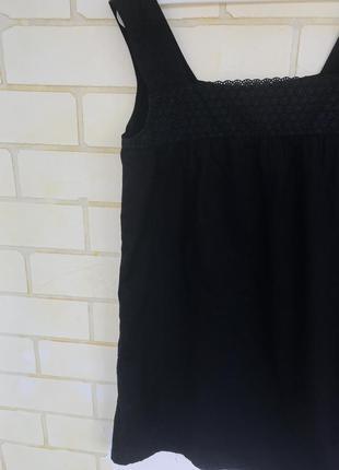 Свободное короткое черное платье