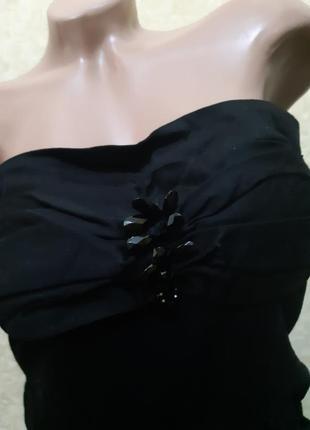 Черное платье бюстье2