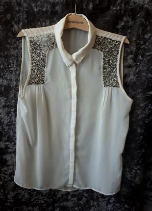 Блуза с декором h&m1