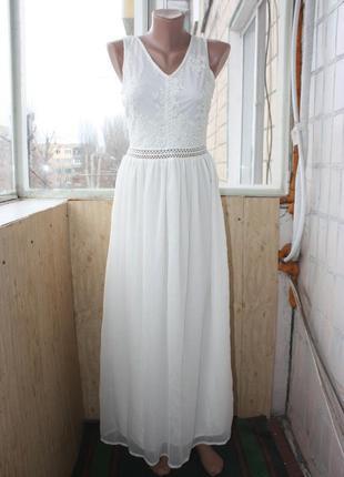 Платье ажурное свадебное на роспись на новый год длинное