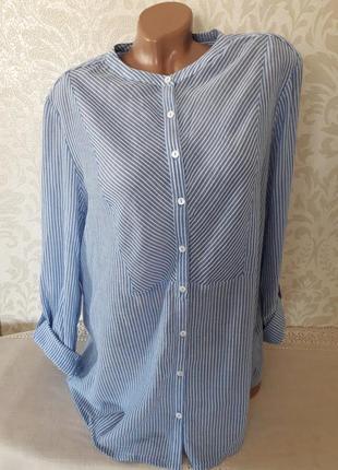 Шикарная хлопковая блуза рубашечка...1