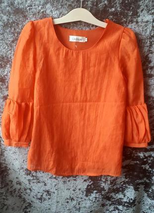 Яркая блуза с воланами1