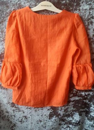 Яркая блуза с воланами2