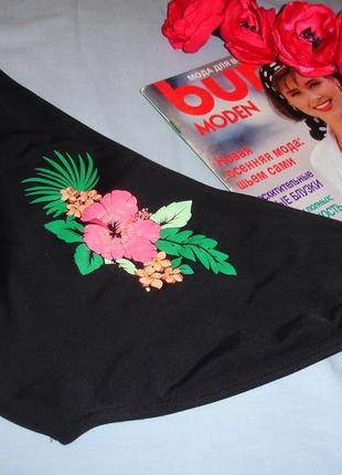 Низ от купальника раздельного трусики женские плавки размер 50-52 / 16 черные розовые1 фото