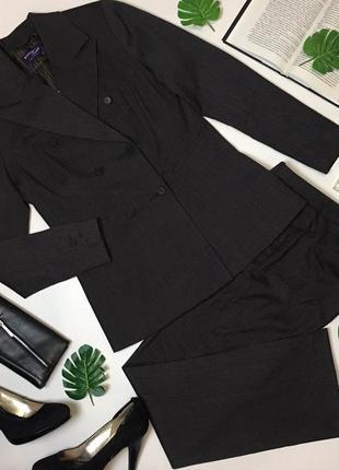 Стильный брючный костюм, двубортный пиджак и брюки чинос charles voegel.
