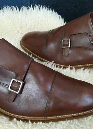 Clarks туфли кожа 43 р по ст 30 см класика в хорошем состояние