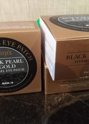 Petitfee - корейские патчи под глаза черный жемчуг   золото (black pearl & gold), 60 шт1