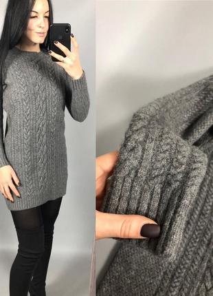 Платье шерстяное плотное шерсть крупная вязка cos3
