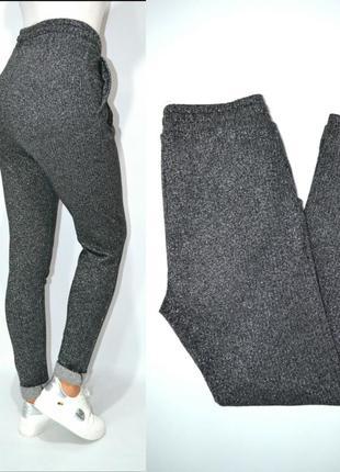 Трикотажные брюки с люрексом высокая посадка only.4