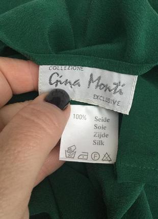 Винтаж,100% шёлк,майка,топ,блуза-бретели,италия,gina monti,эксклюзив,люкс бренд5